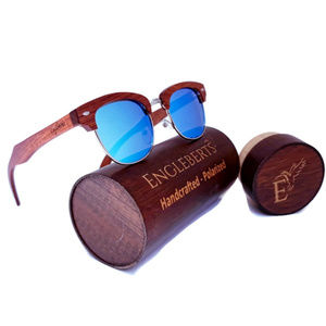 Real SandalWood Framed Sunglasses, Polarized UV400